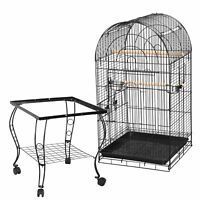 """63""""H Rolling Bird Cage w/Open Play Top Home for Small Parrot Cockatiel Parakeet"""