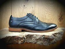 BASE LONDON // Motif // Mens Black Brogues Shoes // NEW!!!