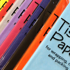 TISSUE PAPER 50 X 70CM ACID FREE, PRESENT GIFT WRAPPING DECORATIONS, 12 COLOURS