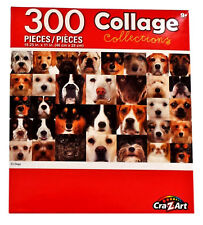 """Dog Puppy Collage Dogs Puppies Jigsaw Puzzle 300 Pieces 18.25"""" X 11"""" Piece NEW"""