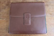 Rare Authentic Gucci Vintage Brown Leather Portfolio Document Holder Stationary