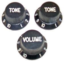Fender 72 Reissue Custom Stratocaster Tone & Volume Knobs - Black