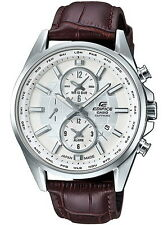 Casio Edifice Chronograph Alarm Leather Strap Men's Watch EFB-302JL-7A