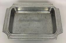 Wilton Armetale Flutes & Pearls Rectangular Casserole Baker Baking Dish
