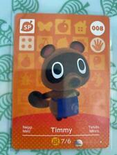 Animal Crossing Amiibo Card - Timmy 008 - Genuine Mint - Series 1