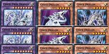 3X (3 Cyber Twin Dragon 1st Ultra SDHS FUSION set +6 Cyber Dragons Black & White
