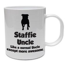 Staffordshire Bull Terrier Dog Mug - STAFFIE UNCLE - Funny Staffie Dog Gift Idea