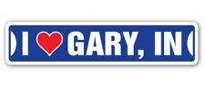 I LOVE GARY, INDIANA Street Sign in city state us wall road gift
