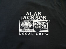 Alan Jackson vintage Local Crew Xl concert t-shirt staff only