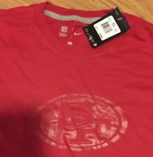 6ff02b6d0 San Francisco 49ers Nike NFL Logo Tee All Red NWT Mens 2XL Red Out Rare  Cotton