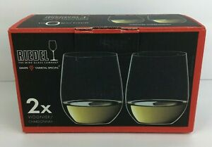 New Riedel O Wine Tumbler Viognier Chardonnay Stemless Glasses Set Of Two