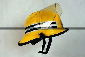 Englischer Feuerwehrhelm mit Visier Vintage - Carins Helmets Fireman