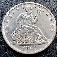 1849 O Seated Liberty Half Dollar 50c High Grade AU - UNC   #16842
