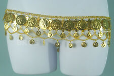 Gold Belly Dance Coin Belt - Tribal Gypsy Hip/Waist Accessory for Dancing