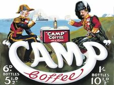 Camp Coffee, Army & Navy, Forces, Kitchen Cafe, Old Advert large Metal/Tin Sign