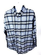 Basic Editions Mens 3XLT Long Sleeve Button Front MultiColor Plaid Shirt