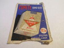 Etiquette allumette - CIGARETTE COMETE - Long-Size - (103)