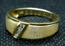 Stunning Men's Sterling Silver Ring 'Soul Mate' Gold Plated Wedding Ring
