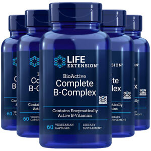 BioActive Complete B-Complex 5X60 caps Life Extension - Inositol/P-5-P/methyl