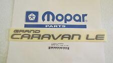 "New OEM Gray Dodge ""GRAND CARAVAN LE"" Nameplate Emblem Letter Kit Badge 0HS38PD8"