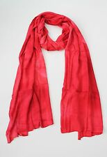 BRAND NEW HANDMADE EXTRA LONG RED TIE DYE SCARF SARONG COVER FREE POST / SCL007