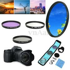 New 58mm UV FLD CPL Circular Polarizing Filter Kit Set + Lens Hood For Canon