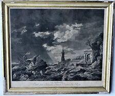 Gravure La tempeste d'après Joseph Vernet, gravé par AD Dimensions : 35 x 41 cm