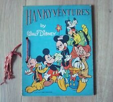 Rare 1939 Hankyventures by Walt Disney Book - No Hankies - Mickey Mouse Donald