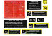 ALFA ROMEO 145 / 146 Twin Spark / TI / Cloverleaf Engine Bay Stickers / Decals