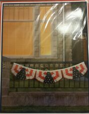"""Americana bunting banner 72""""x12"""" Us 4th of July"""