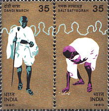 India 1980 Mahatma Gandhi's Dandi March SETENANT