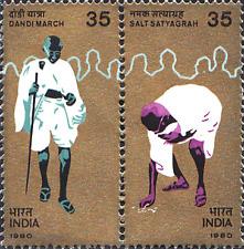 India 1980 Mahatma Gandhi's Dandi March SETENANT
