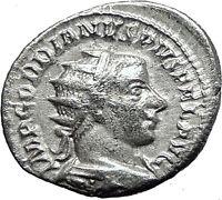 Gordian III 243AD Silver Authentic Genuine Ancient Roman Coin SOL SUN  i59034
