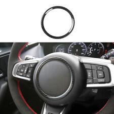 For Jaguar E-PACE 2018-2020 Carbon Fiber Steering Wheel Horn Button Cover Trim