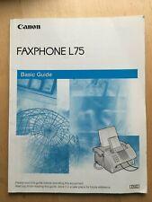 Canon USER MANUAL for Fax Machine Model Faxphone L75 -Copyright 2002 EUC