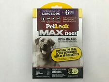 Petlock Max For Dogs Topical Flea Treatment Large Dog 6 Month Supply 21-55lbs