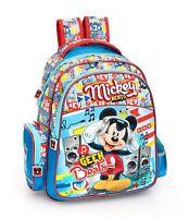 Disney Mickey Mouse Blue Rucksack Backpack PREMIUM School Travel Bag Boys Blue