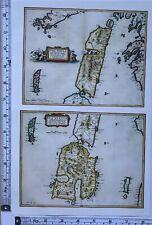 Historic Antique vintage Old Map: Isle of Jura & Ila, Scotland 1600s REPRINT