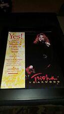 Trisha Yearwood Rare Original Ama Grammy Awards Promo Poster Ad Framed!