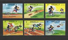Anguilla 6 timbres neufs 1984 Los Angeles Walt Disney Mickey /T3062