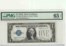 AC 1928A $1 Silver Certificate PMG 65 EPQ P-A block  Fr 1601