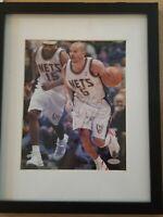 jason kidd signed 8x10 autographed FRAMED photo picture nba hof steiner coa JJJ
