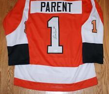 Bernie Parent Autographed Philadelphia Flyers Jersey HOF 1984 JSA Authenticated