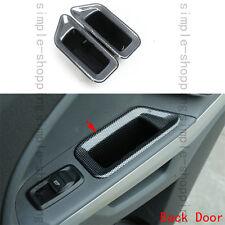 2x Carbon Fiber Color Rear Door Armrest Storage Box For Ford Ecosport 2013-2016
