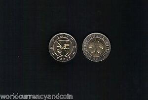GHANA 100 CEDIS NEW 1999 COCOA LEAF BI METAL UNC CURRENCY MONEY AFRICA COIN