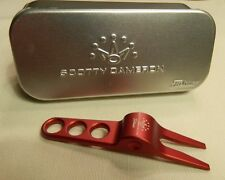 Authentic Titleist Scotty Cameron Red Divot Pivot Repair Tool and Aluminum Tin