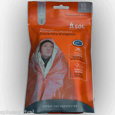 HeatSheet Emergency Camping Survival Solar Mylar Blanket Orange SOL Auto Kit