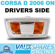 VAUXHALL CORSA D NEW SIDE REPEATER INDICATOR LENS DRIVERS OFF SIDE SXI SRI VXR