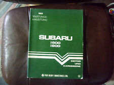 Wartungsanleitung Werkstatthandbuch Subaru 1600 / 1800 Motor und Karosserie 1983
