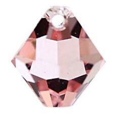 Swarovski Crystal TopDrill Bicone Light Rose Color 6mm. Approx 24 PCS 6328-6301